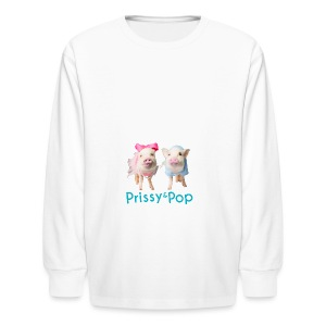 Prissy and Pop Apron - Kids' Long Sleeve T-Shirt