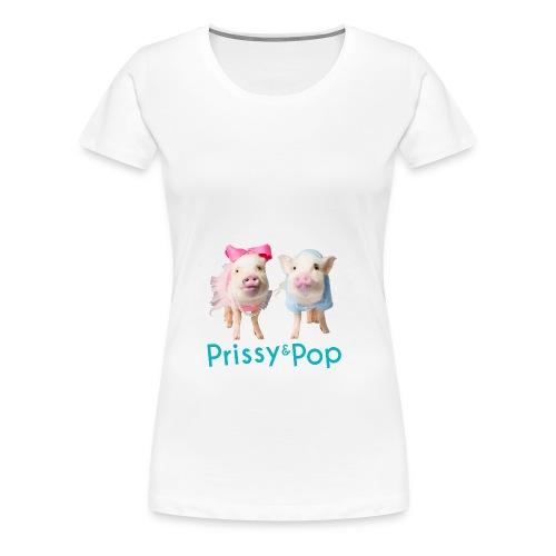 Prissy and Pop Apron - Women's Premium T-Shirt