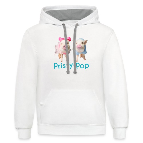 Prissy and Pop Girl's Dress - Contrast Hoodie
