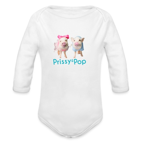 Prissy and Pop Girl's Dress - Organic Long Sleeve Baby Bodysuit