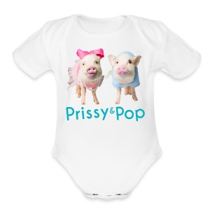 Prissy and Pop Girl's Dress - Short Sleeve Baby Bodysuit