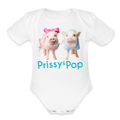Prissy and Pop Girl's Dress - Organic Short Sleeve Baby Bodysuit