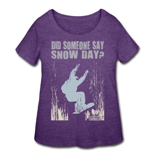 Snowboarder Snow Day - Women's Curvy T-Shirt