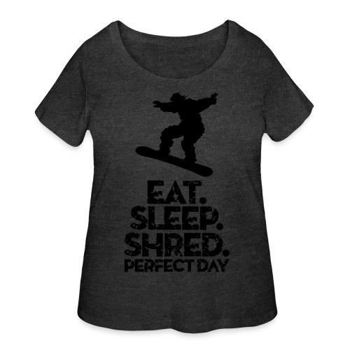 Snowboarder Eat Sleep Shred - Women's Curvy T-Shirt