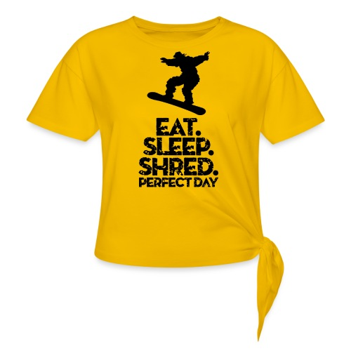 Snowboarder Eat Sleep Shred - Women's Knotted T-Shirt