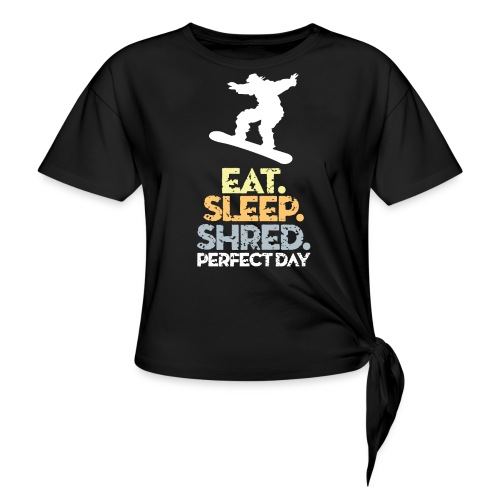 Snowboarder Snow Day - Women's Knotted T-Shirt