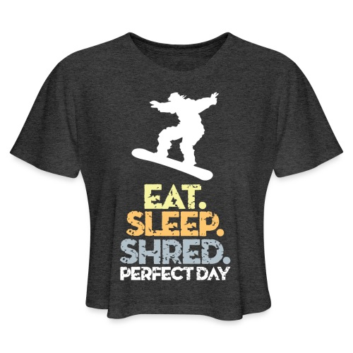 Snowboarder Snow Day - Women's Cropped T-Shirt