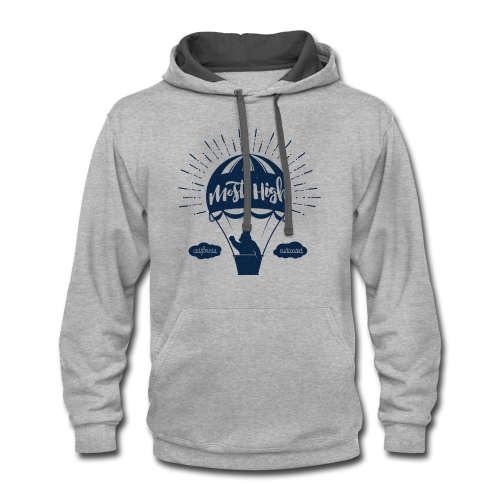 Most High_Blue - Contrast Hoodie