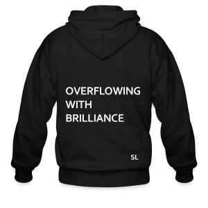 Black Brilliance T-shirt for Black girls and Black women. Overflowing With Brilliance. - Stephanie Lahart - Men's Zip Hoodie
