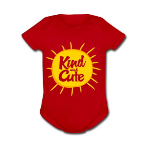 Kind and Cute - Short Sleeve Baby Bodysuit