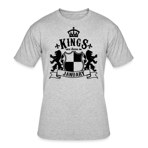 Kings are born in January - Men's 50/50 T-Shirt
