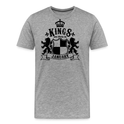 Kings are born in January - Men's Premium T-Shirt