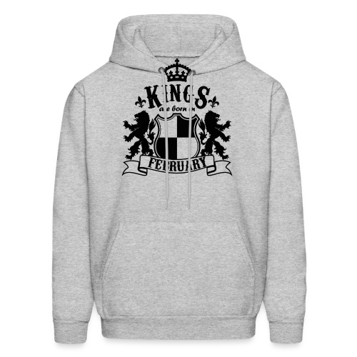 Kings are born in February - Men's Hoodie
