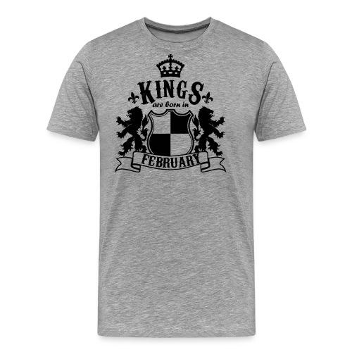Kings are born in February - Men's Premium T-Shirt