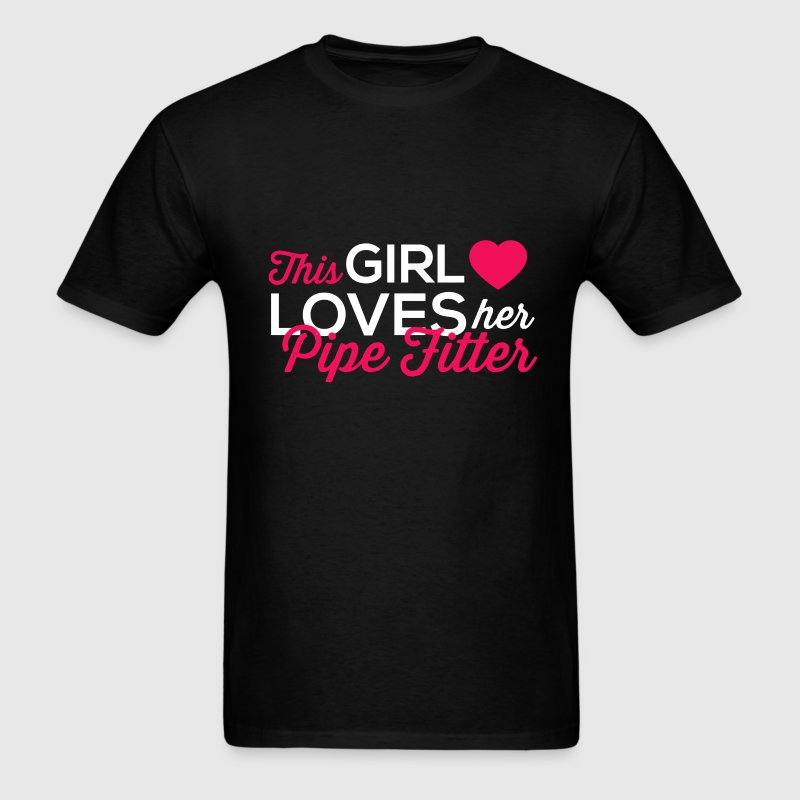 Pipe Fitter - This girl loves her Pipe fitter - Men's T-Shirt