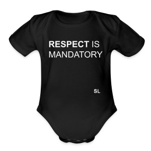 Empowering T-shirt for Black girls and Black women. Respect is Mandatory. Shirt by Stephanie Lahart. - Short Sleeve Baby Bodysuit