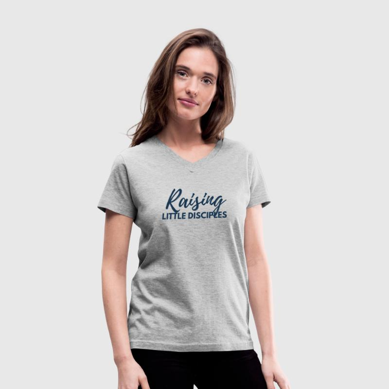 Raising Little Disciples T-Shirts - Women's V-Neck T-Shirt