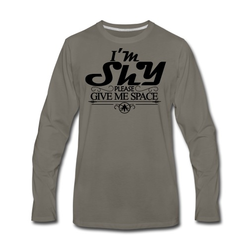 I AM SHY - Men's Premium Long Sleeve T-Shirt
