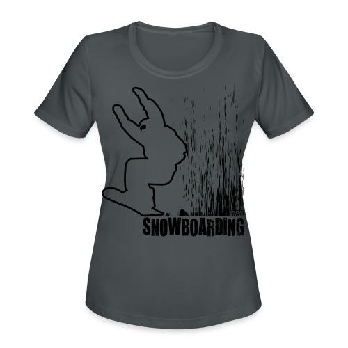 Snowboarder Snowboarding - Women's Moisture Wicking Performance T-Shirt
