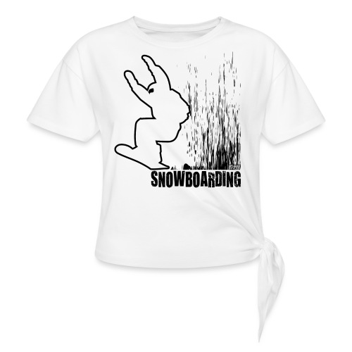 Snowboarder Snowboarding - Women's Knotted T-Shirt