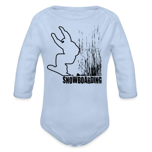 Snowboarder Snowboarding - Organic Long Sleeve Baby Bodysuit