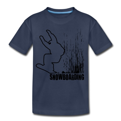 Snowboarder Snowboarding - Toddler Premium T-Shirt