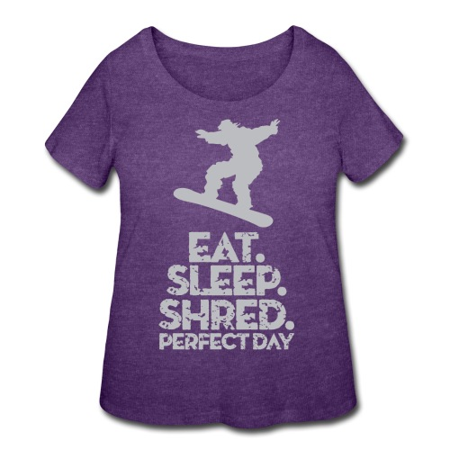 Snowboarder Shred - Women's Curvy T-Shirt