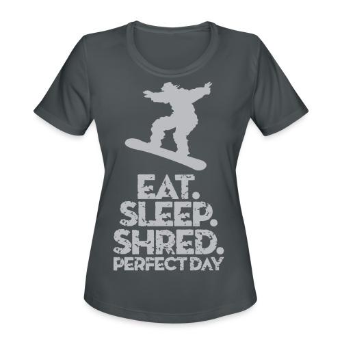 Snowboarder Shred - Women's Moisture Wicking Performance T-Shirt