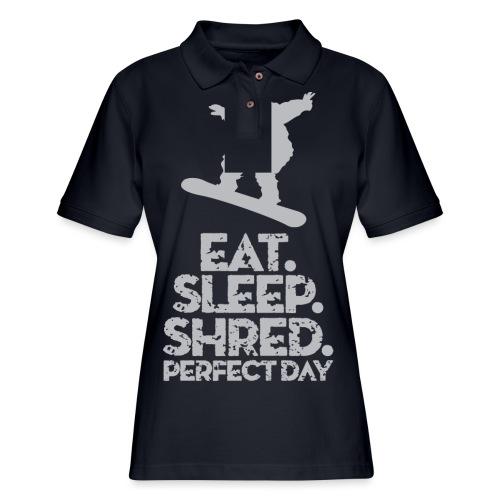 Snowboarder Shred - Women's Pique Polo Shirt