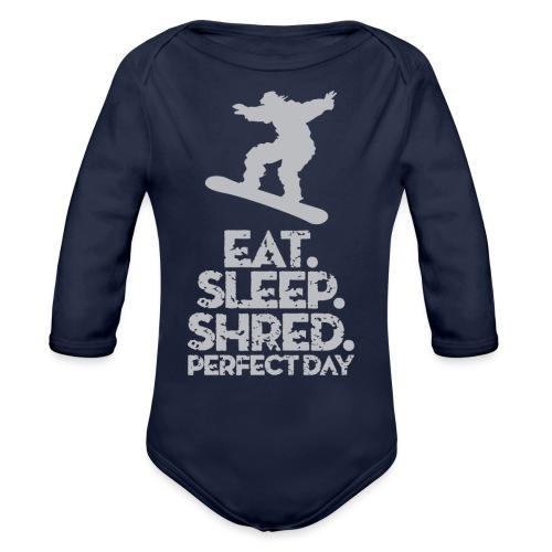Snowboarder Shred - Organic Long Sleeve Baby Bodysuit