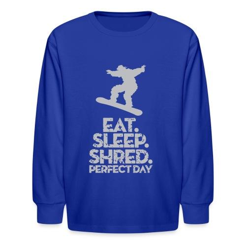 Snowboarder Shred - Kids' Long Sleeve T-Shirt