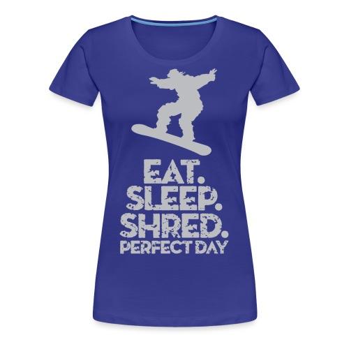 Snowboarder Shred - Women's Premium T-Shirt