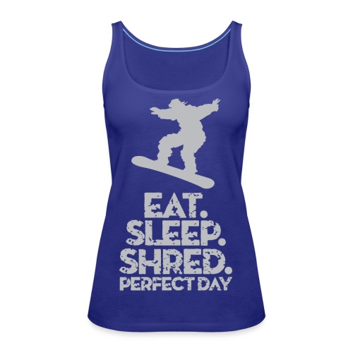 Snowboarder Shred - Women's Premium Tank Top