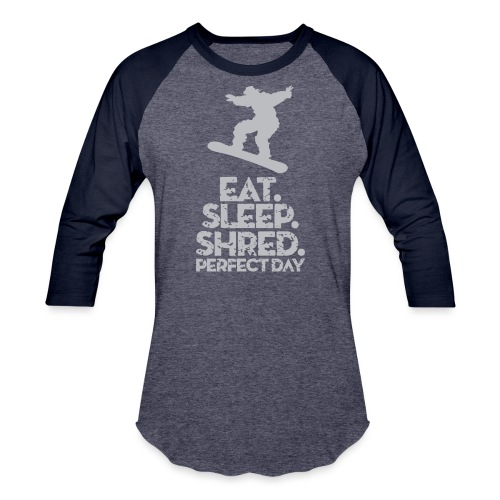 Snowboarder Shred - Baseball T-Shirt