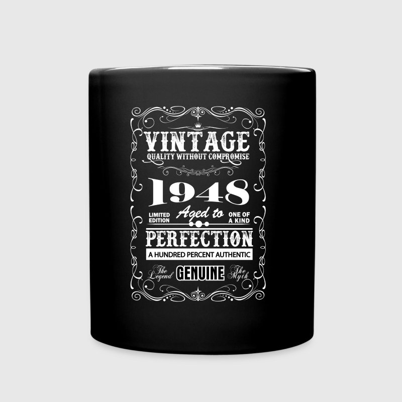 Premium Vintage 1948 Aged To Perfection Mugs & Drinkware - Full Color Mug