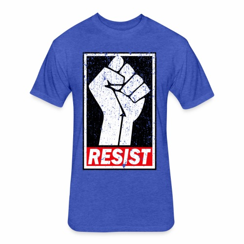 RESIST DISTRESSED SYLE - Fitted Cotton/Poly T-Shirt by Next Level