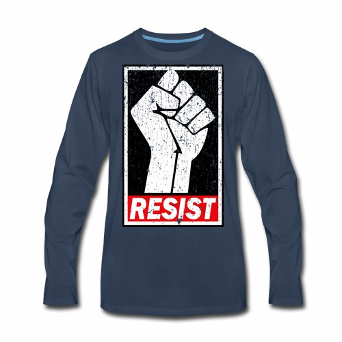 RESIST DISTRESSED SYLE - Men's Premium Long Sleeve T-Shirt