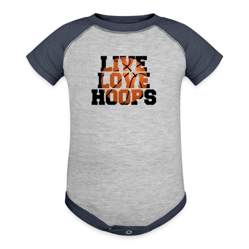 Live Love Hoops shirt - Baby Contrast One Piece