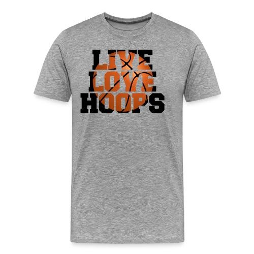 Live Love Hoops shirt - Men's Premium T-Shirt