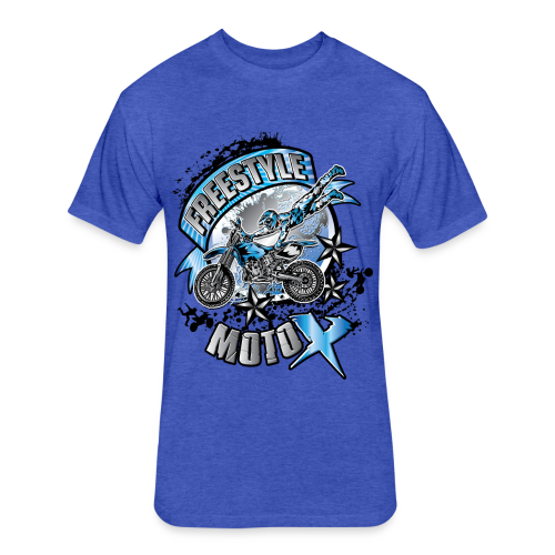 Freestyle MotoX - Fitted Cotton/Poly T-Shirt by Next Level
