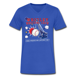 Wrigley Wrecking Crew - Men's V-Neck T-Shirt by Canvas