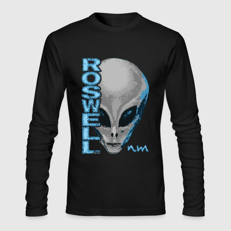 Roswell NM Grey Alien T-Shirts - Men's Long Sleeve T-Shirt by Next Level