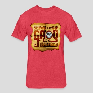 Monkey Island: Scumm Bar Grog - Fitted Cotton/Poly T-Shirt by Next Level