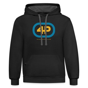4Player Retro Logo (Color) - Women's T Shirt - Contrast Hoodie