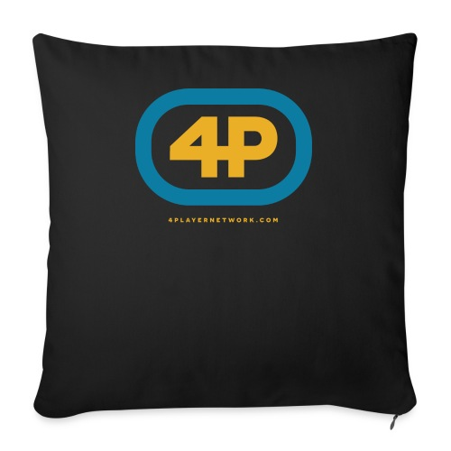 4Player Retro Logo (Color) - Women's T Shirt - Throw Pillow Cover