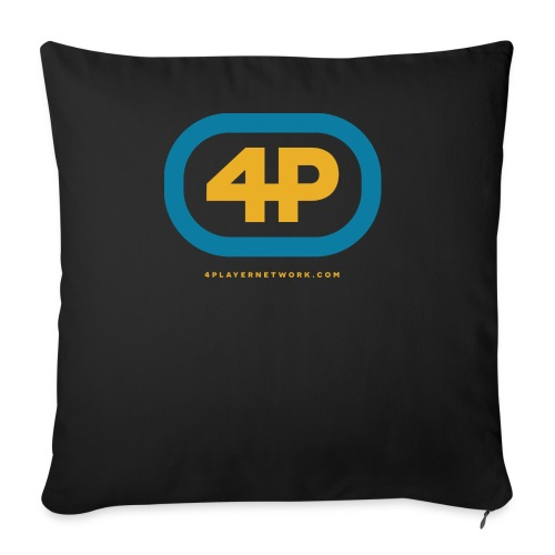 """4Player Retro Logo (Color) - Women's T Shirt - Throw Pillow Cover 18"""" x 18"""""""