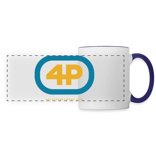 4Player Retro Logo (Color) - Women's T Shirt - Panoramic Mug