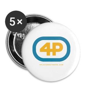 4Player Retro Logo (Color) - Women's T Shirt - Large Buttons