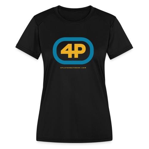 4Player Retro Logo (Color) - Women's T Shirt - Women's Moisture Wicking Performance T-Shirt