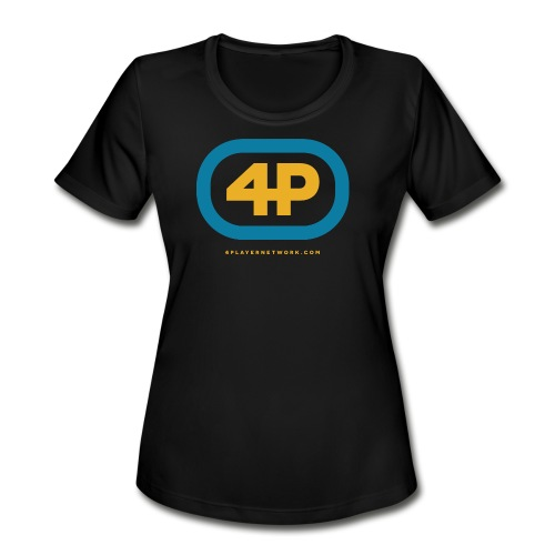 4Player Retro Logo (Color) - Women's T Shirt - Women's Moisture Wicking Performance T-Shirt